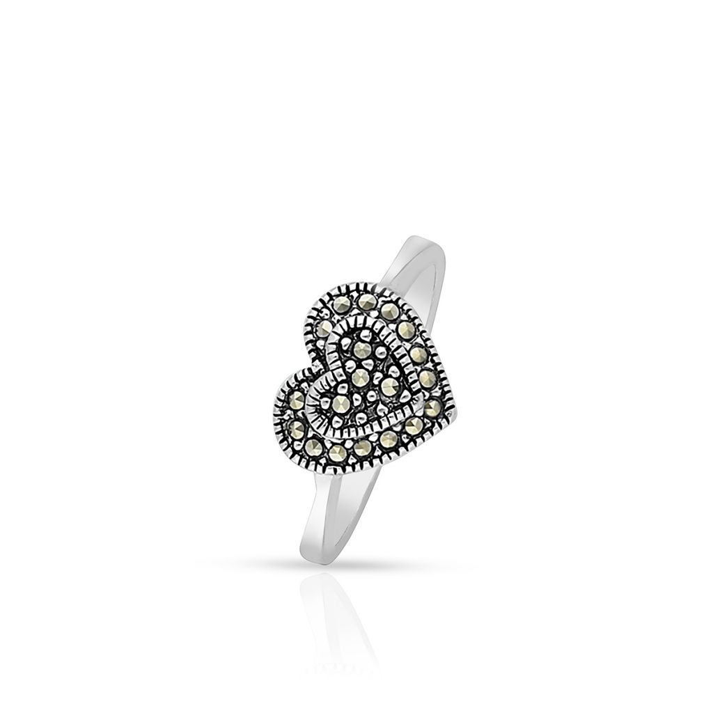W.KRUK Unikalny Srebrny Pierścionek – srebro 925, Markasyt – SHF/PS066