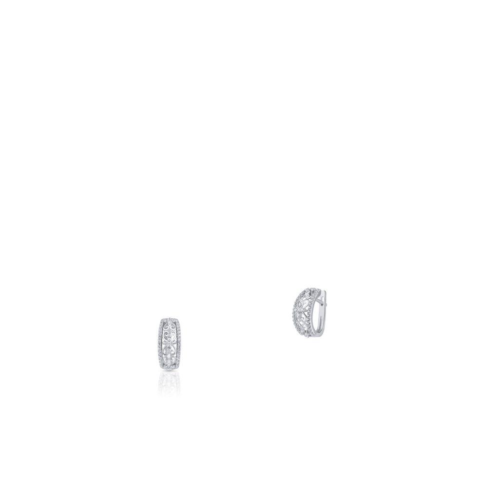 W.KRUK Kolczyki Srebrne – srebro 925, Cyrkonia – SDL/KC072