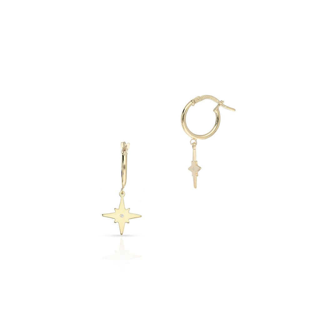 W.KRUK Zjawiskowe Kolczyki Złote – złoto 375, Cyrkonia – ZIT/KC02