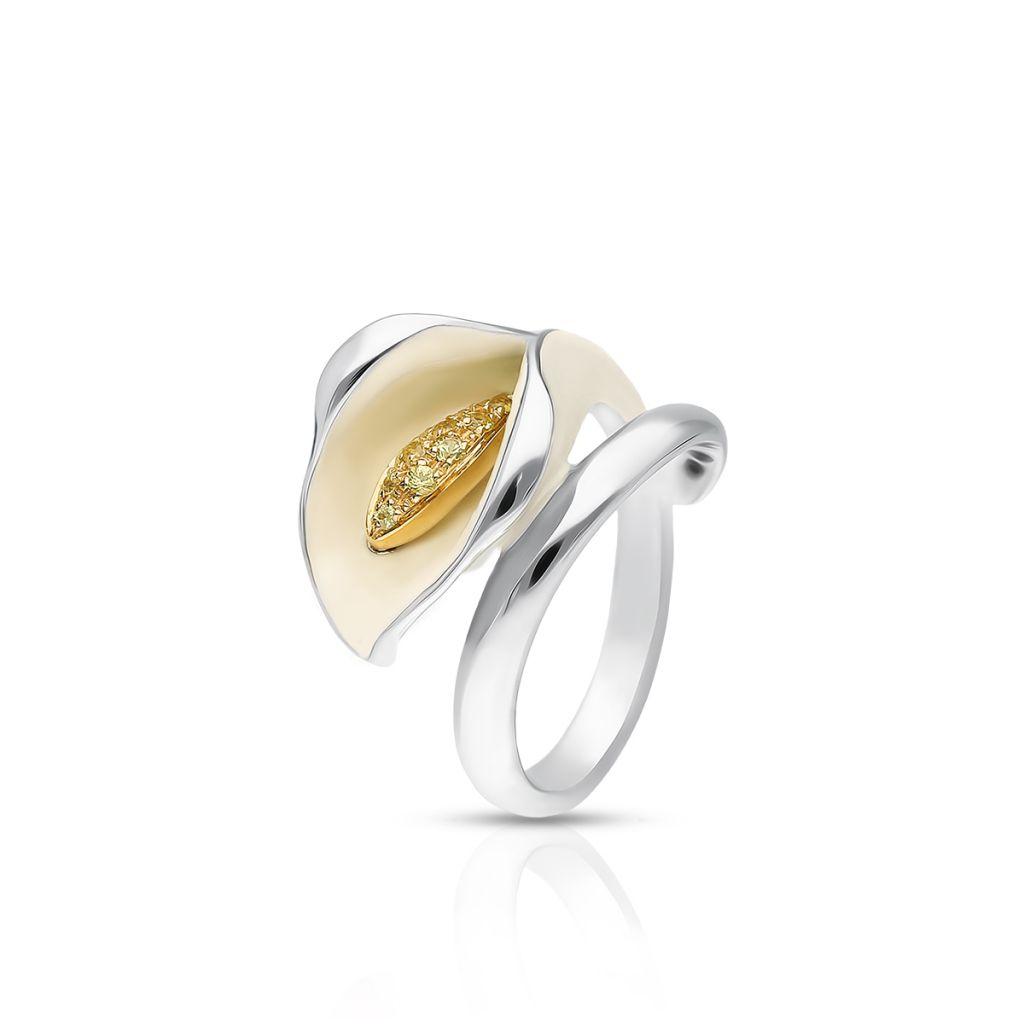 W.KRUK RABAT Pierścionek złoty bicolor ANNA MARIA CAMMILLI – ZMM/PS03BK