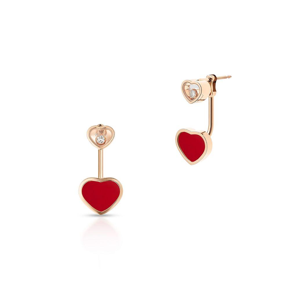 W.KRUK Kolczyki różowe złoto HAPPY HEARTS Chopard – ZPD/KB+11R0000