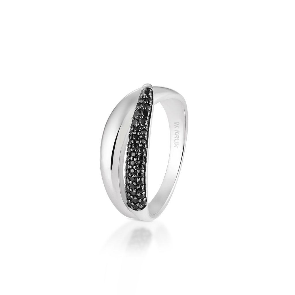W.KRUK Srebrny Pierścionek – srebro 925, Spinel – SDL/PC021