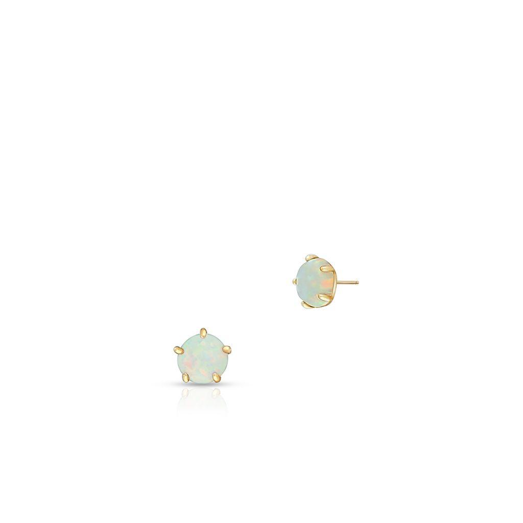 W.KRUK Unikalne Złote Kolczyki – złoto 375, Opal syntetyczny – ZIO/KW06