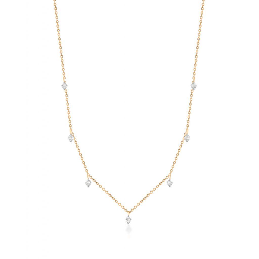 Naszyjnik - złoto 375, Diament 0,06ct