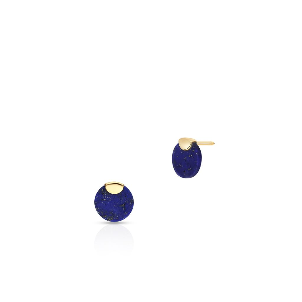 W.KRUK Złote Kolczyki – złoto 375, Lapis lazuli – ZTO/KW23