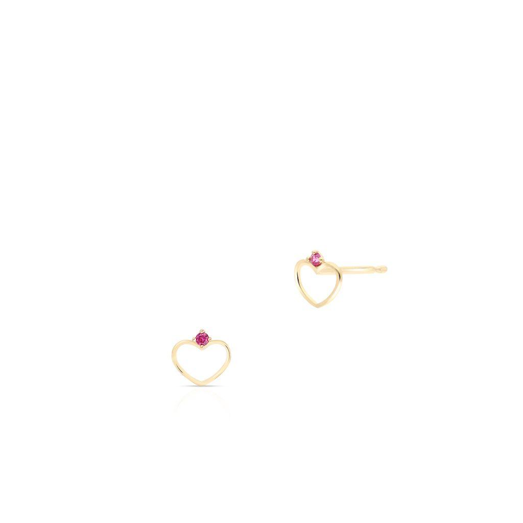 W.KRUK Wspaniałe Złote Kolczyki – złoto 375, Cyrkonia – ZTO/KC57