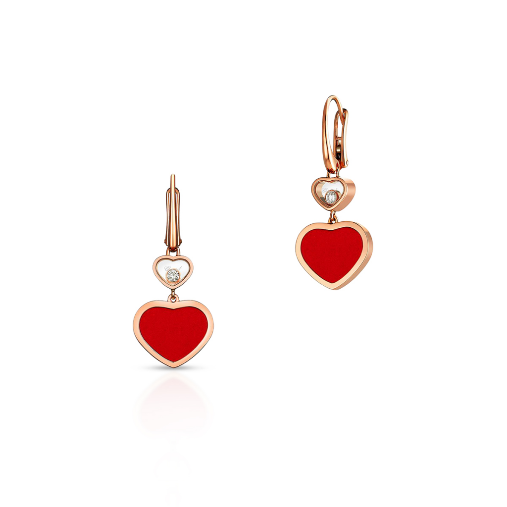W.KRUK Kolczyki różowe złoto HAPPY HEARTS Chopard – ZPD/KB+24R0000