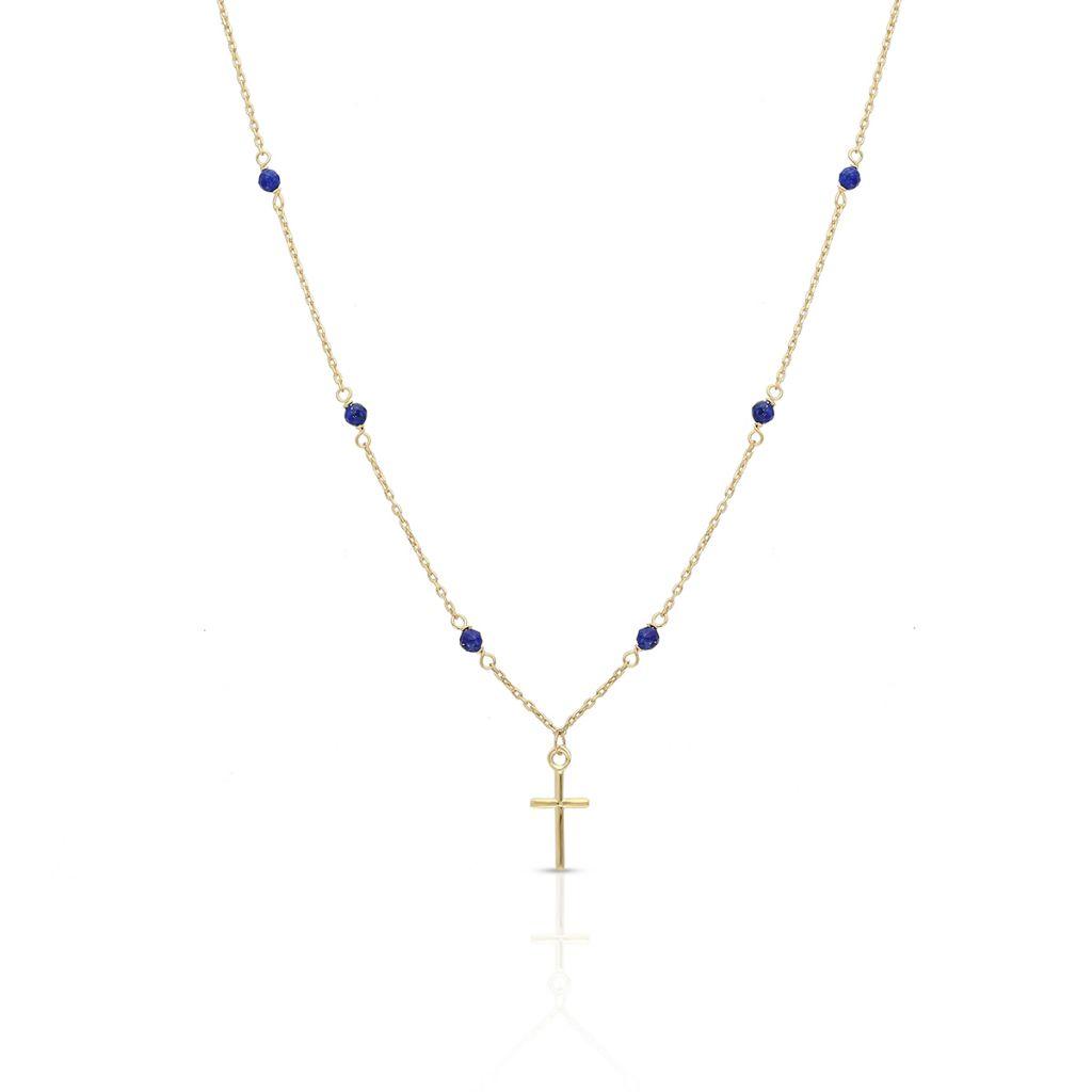 W.KRUK Zjawiskowy Naszyjnik – złoto 375, Lapis lazuli – ZIT/NW02