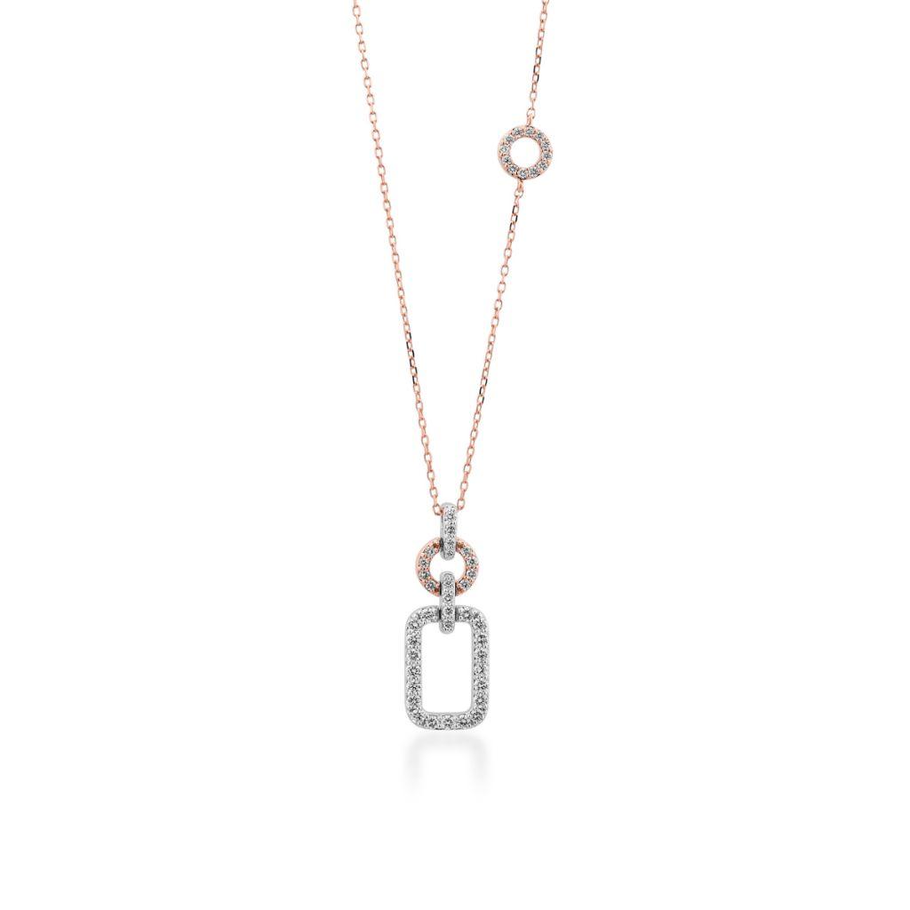 Wspaniały Naszyjnik - złoto 585, Brylant 0,45ct