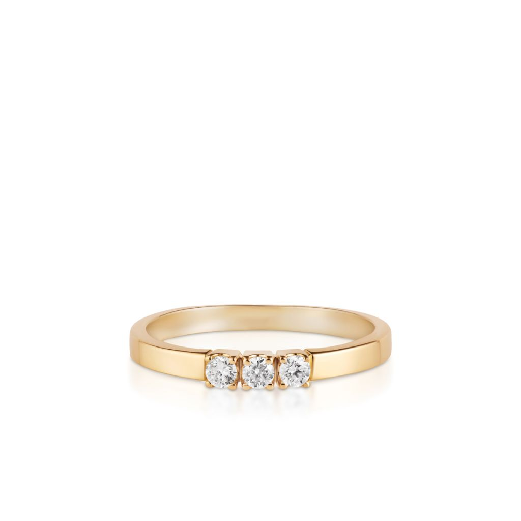 W.KRUK Pierścionek Złoty – złoto 585, Brylant 0,15ct – ZSJ/PB+184