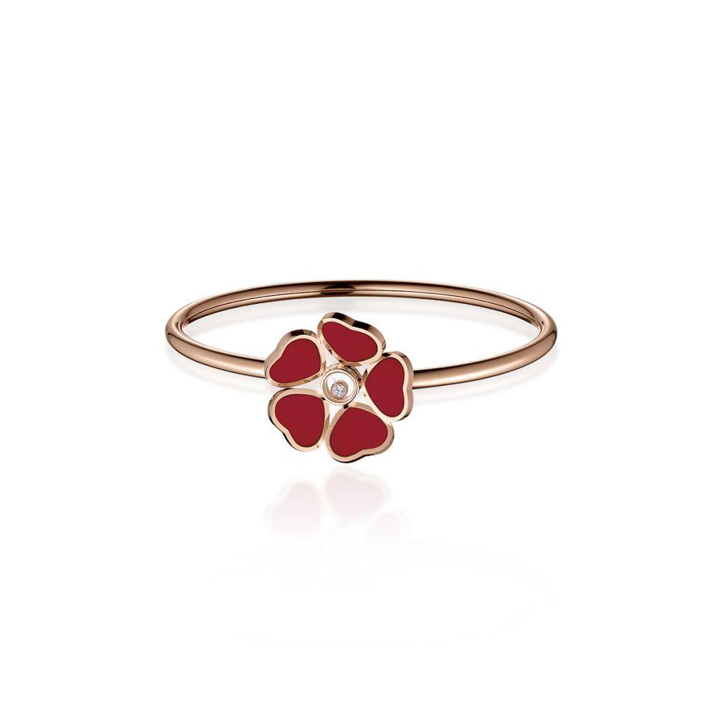 W.KRUK Bransoleta różowe złoto HAPPY HEARTS Chopard – ZPD/AB+72R0000