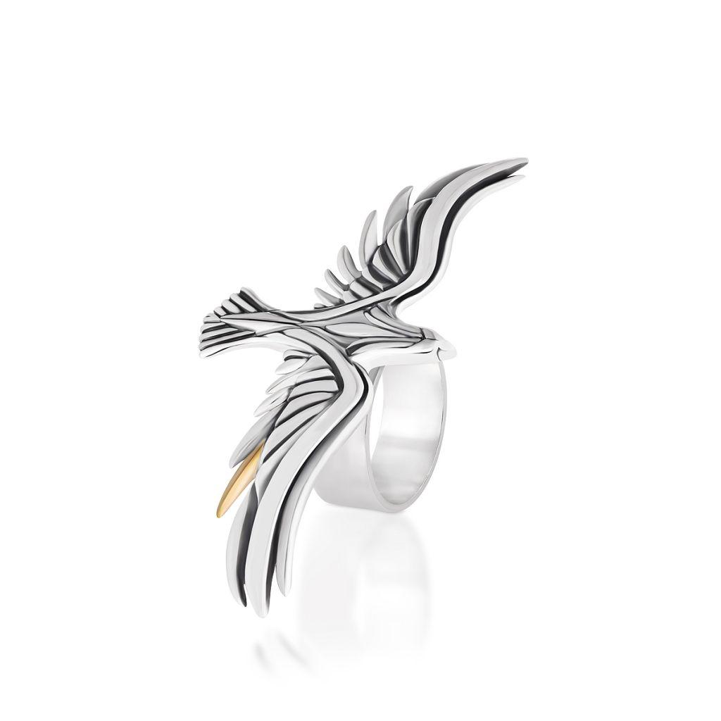 W.KRUK RABAT Srebrny Pierścionek – srebro 925 – WWK/PS1319