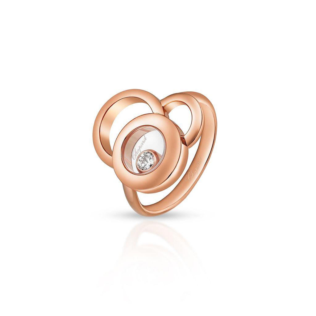 W.KRUK Pierścionek różowe złoto HAPPY DIAMONDS Chopard – ZPD/PB+36R /14U014