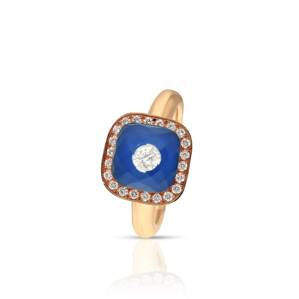 W.KRUK RABAT Pierścionek różowe złoto Meissen – ZSS/PB+45R