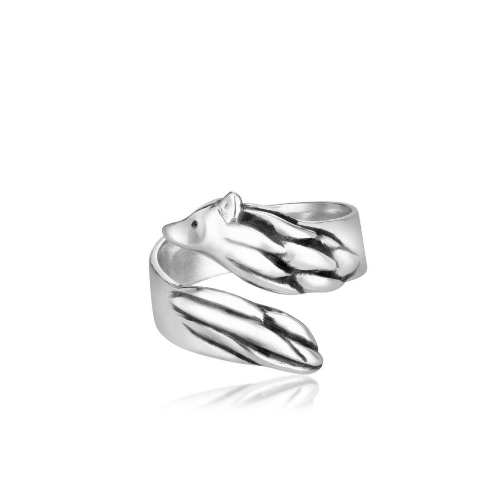 W.KRUK Unikalny Pierścionek Srebrny – srebro 925 – WWK/PS1443