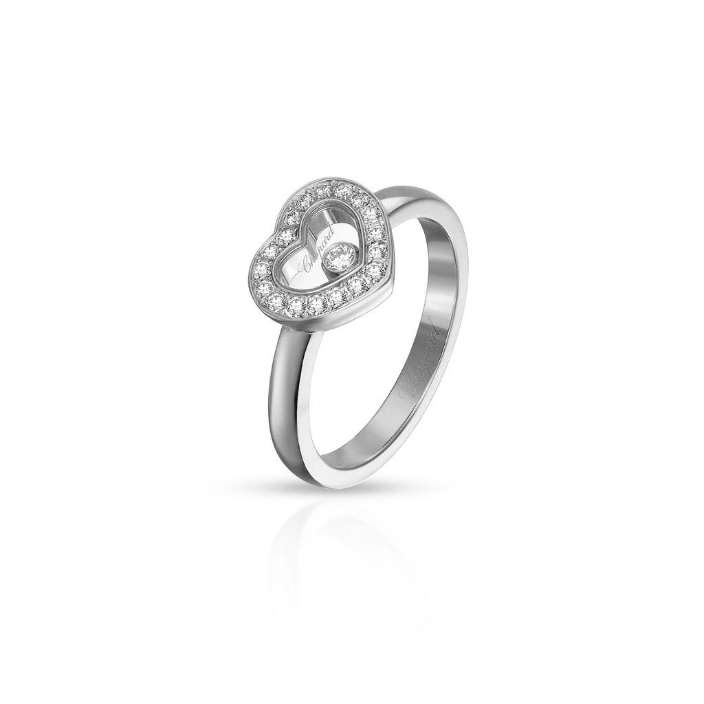 W.KRUK Pierścionek białe złoto HAPPY DIAMONDS HEART Chopard – ZPD/PB+50B /14U014