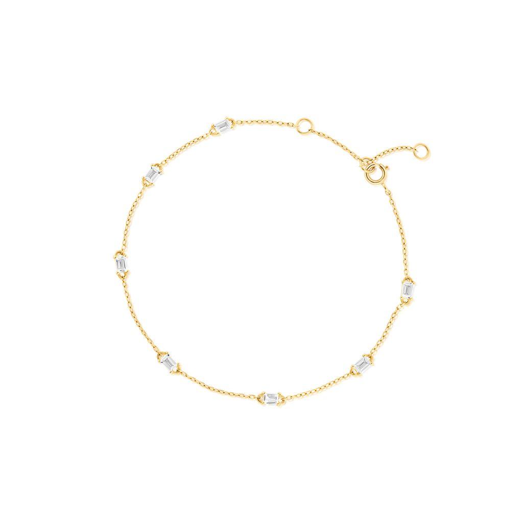 W.KRUK Złota Bransoletka – złoto 375, Biały topaz – ZDL/AT17
