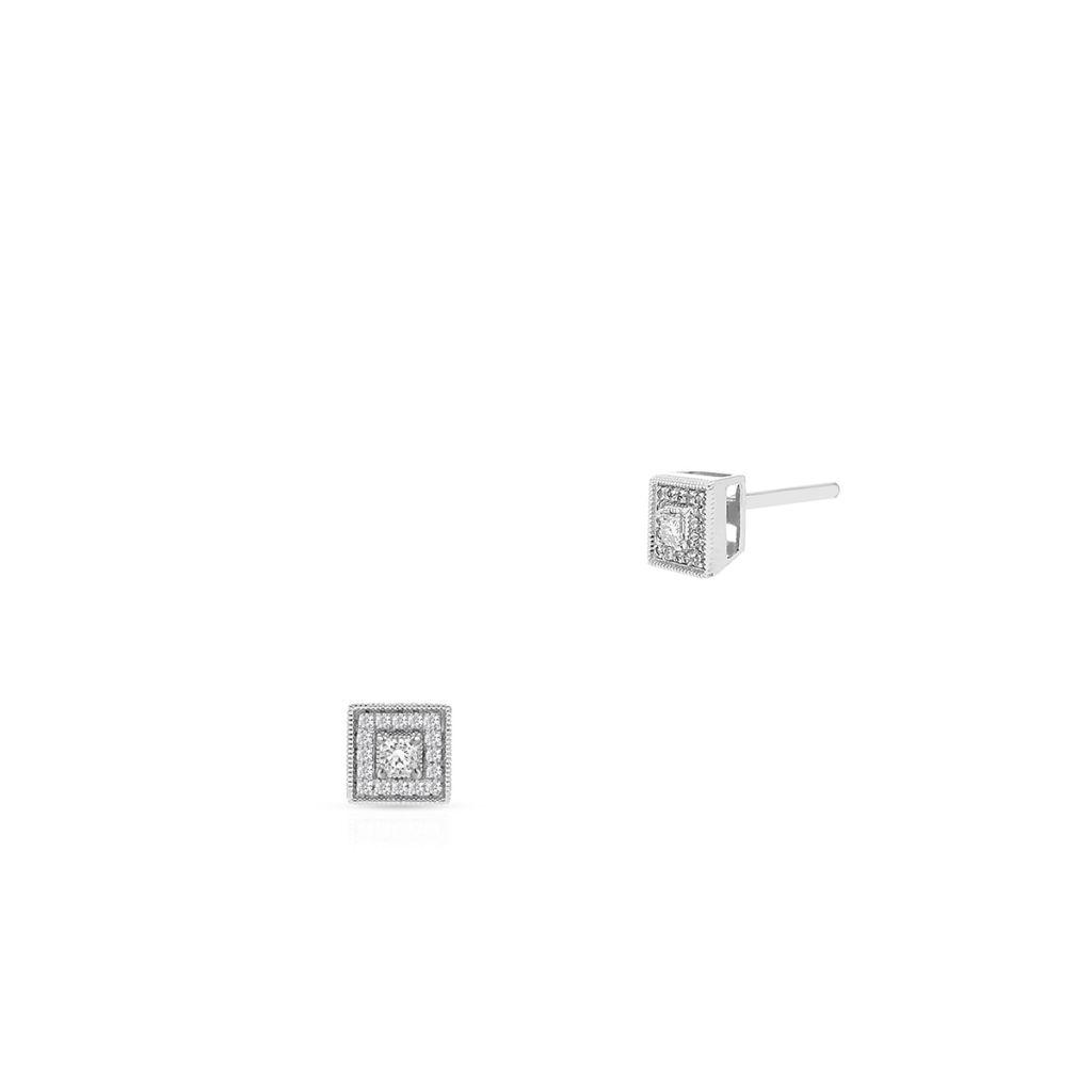W.KRUK Unikalne Kolczyki Złote – złoto 585 – ZPJ/KB+30B