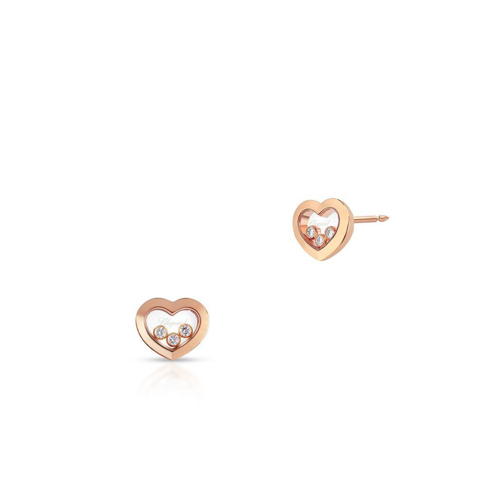 W.KRUK Kolczyki różowe złoto HAPPY HEARTS Chopard – ZPD/KB+07R0000
