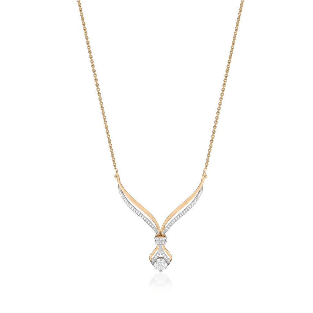 W.KRUK Wyjątkowy Naszyjnik – złoto 585, Brylant 0,11ct,diament 0,16ct – ZFX/NB+13BK