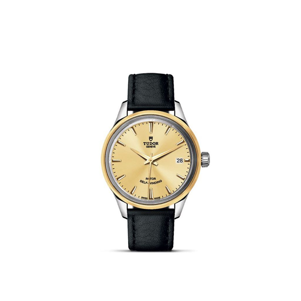 TUDOR STYLE DATE 34MM 12303 STRAP CHAM INDEX Y