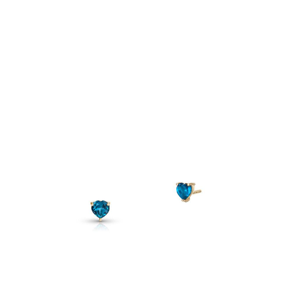 W.KRUK Piękne Kolczyki Złote – złoto 375, Topaz london blue – ZIN/KT25
