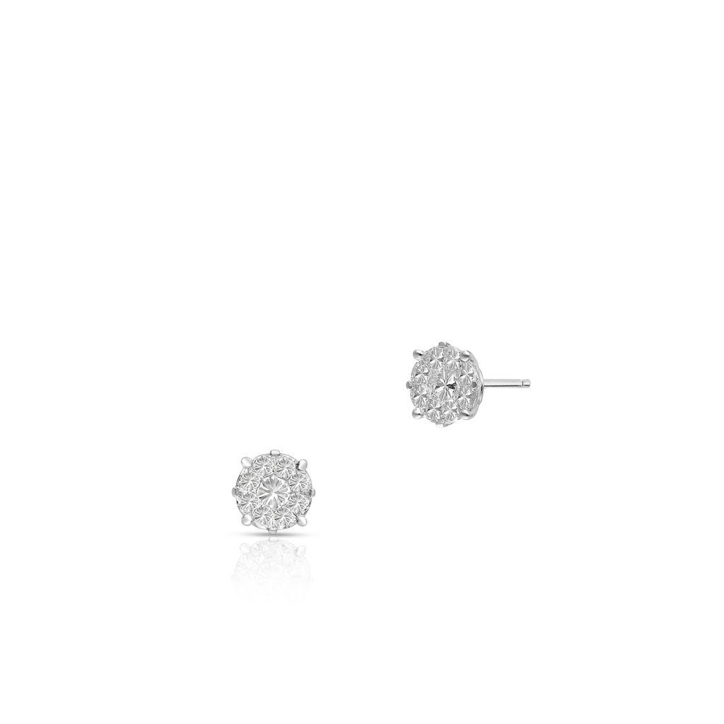 W.KRUK Złote Kolczyki – złoto 750, Diament 1,10ct – ZFT/KB+140B