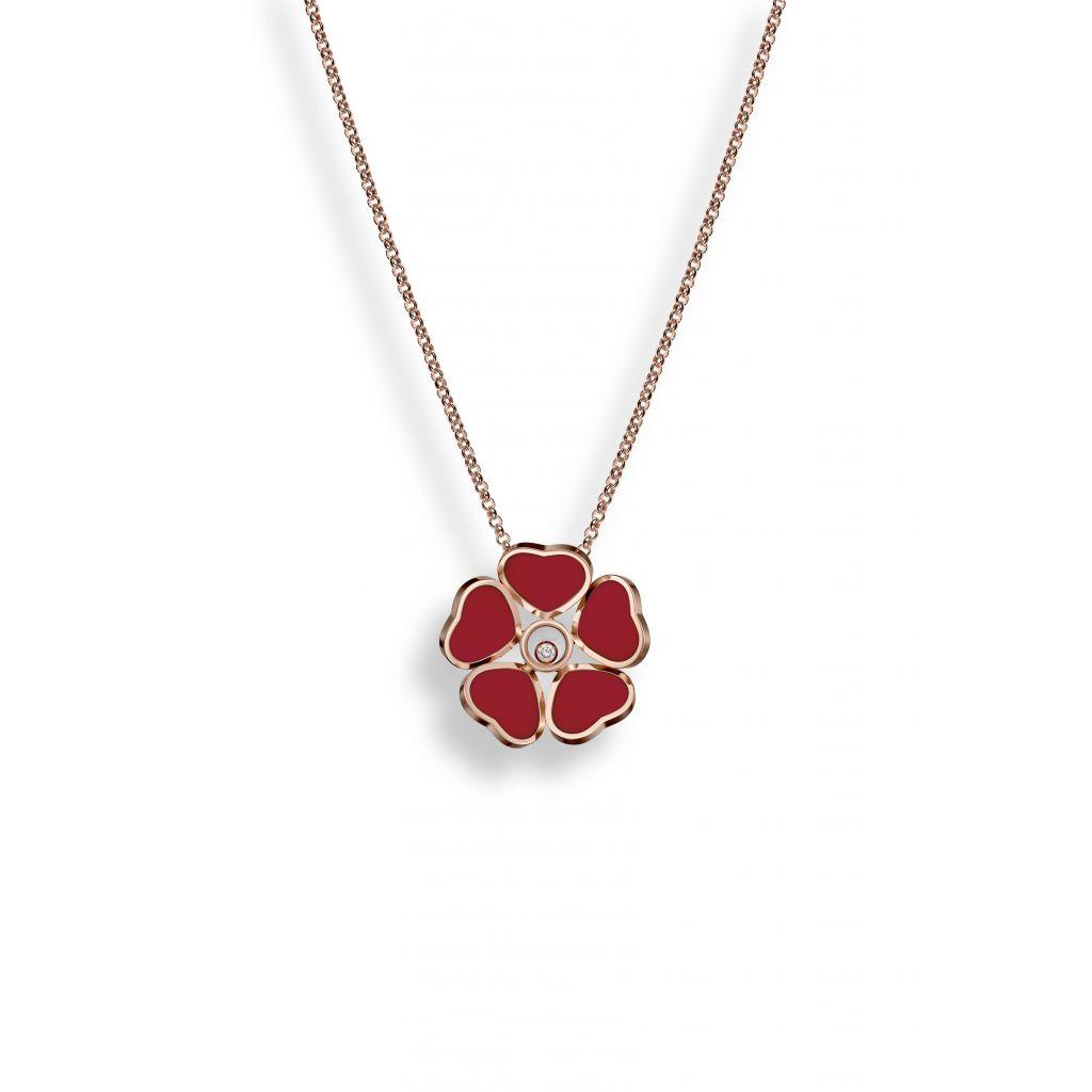 W.KRUK Naszyjnik różowe złoto HAPPY HEARTS Chopard – ZPD/NB+72R0000