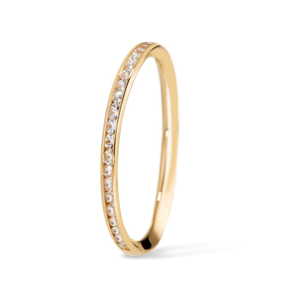 W.KRUK Unikalny Pierścionek Złoty – złoto 375, Cyrkonia – ZRC/PC10