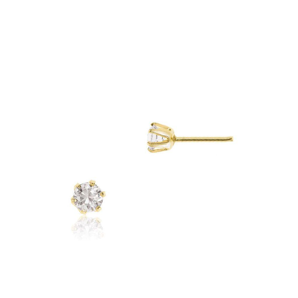 W.KRUK Zjawiskowe Kolczyki Złote – złoto 585, Cyrkonia – ZID/KC04