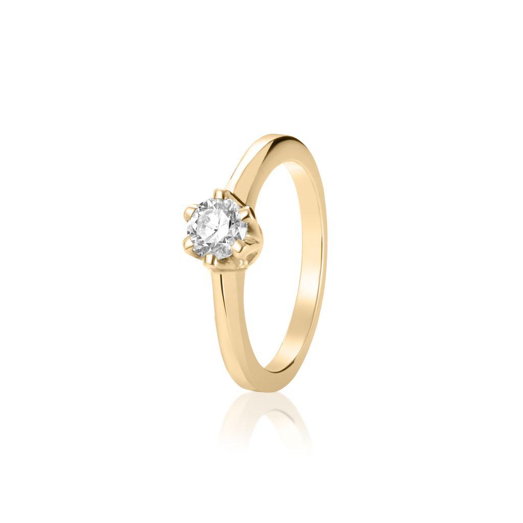 W.KRUK Pierścionek Złoty – złoto 750, Brylant 0,50ct – XWK/PB+30