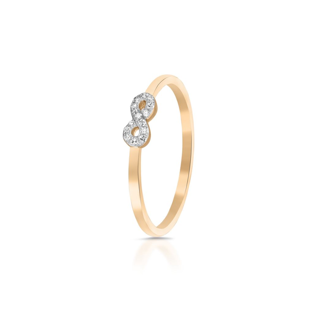 W.KRUK Złoty Pierścionek – złoto 375, Diament 0,04ct – ZDL/PB+06BK