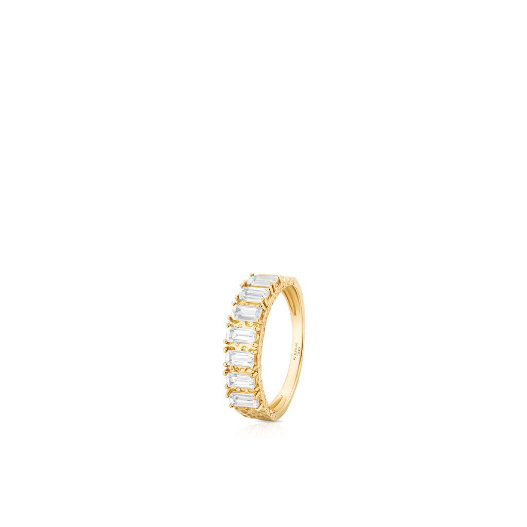 W.KRUK Pierścionek Złoty – złoto 375, Biały topaz – ZDL/PT19