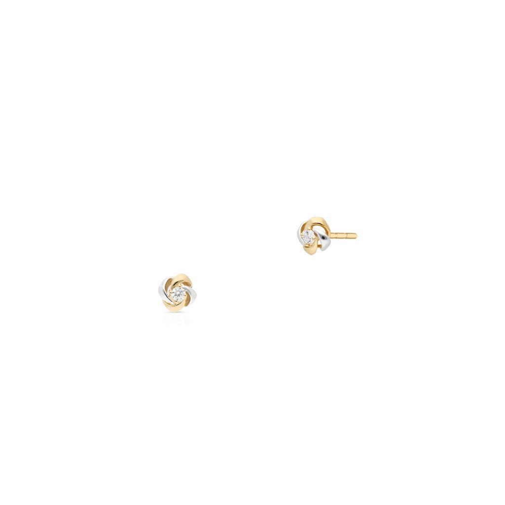 W.KRUK Zjawiskowe Kolczyki Złote – złoto 375, Cyrkonia – ZAZ/KC197BK