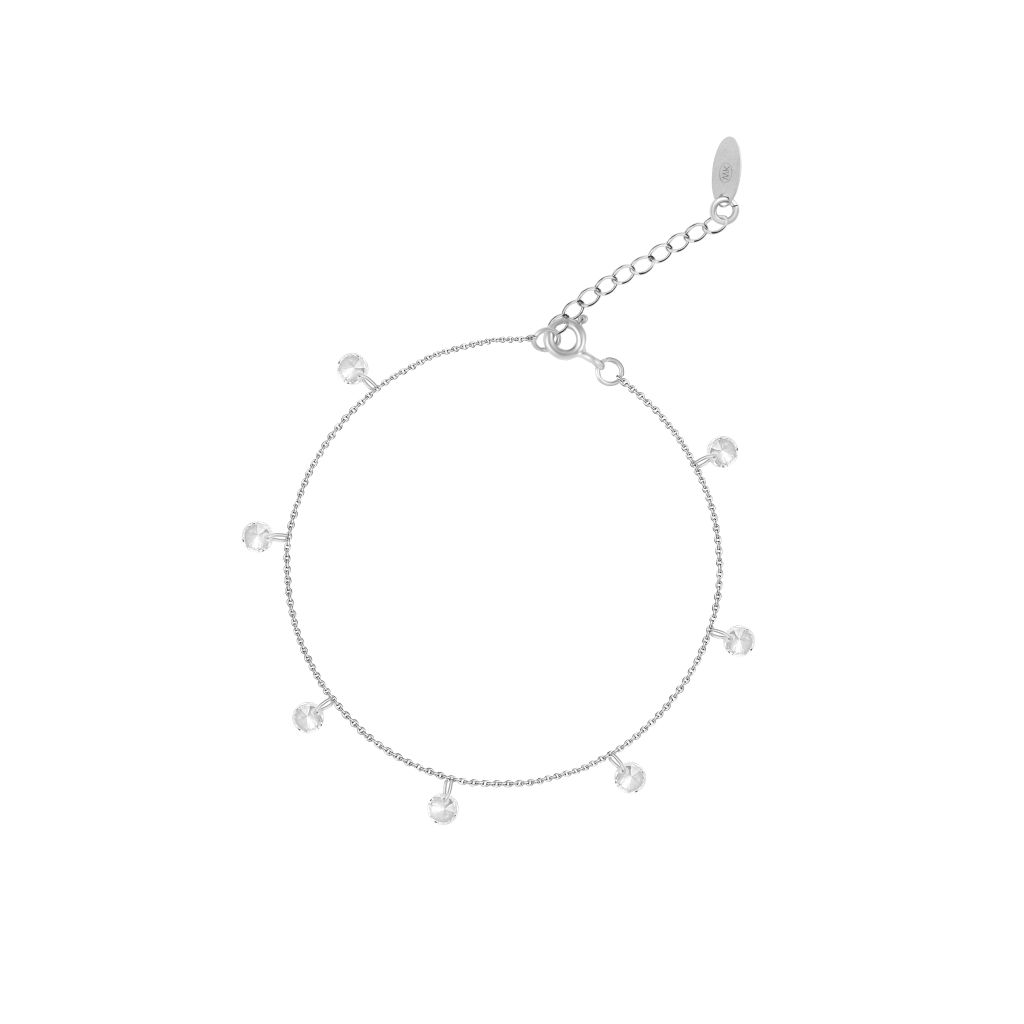 W.KRUK Zjawiskowa Srebrna Bransoletka – srebro 925, Cyrkonia – SMN/AC041