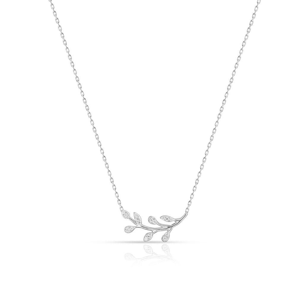 W.KRUK Wyjątkowy Naszyjnik – srebro 925, Cyrkonia – SHX/NC283
