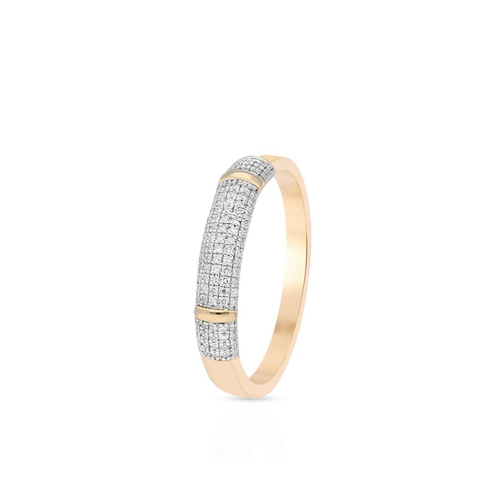 W.KRUK Unikalny Złoty Pierścionek – złoto 585, Diament 0,19ct – ZPA/PB+428K