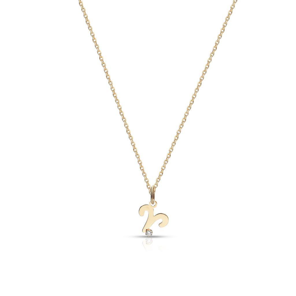 W.KRUK Złoty Wisiorek – złoto 375, Cyrkonia – ZUI/WC38