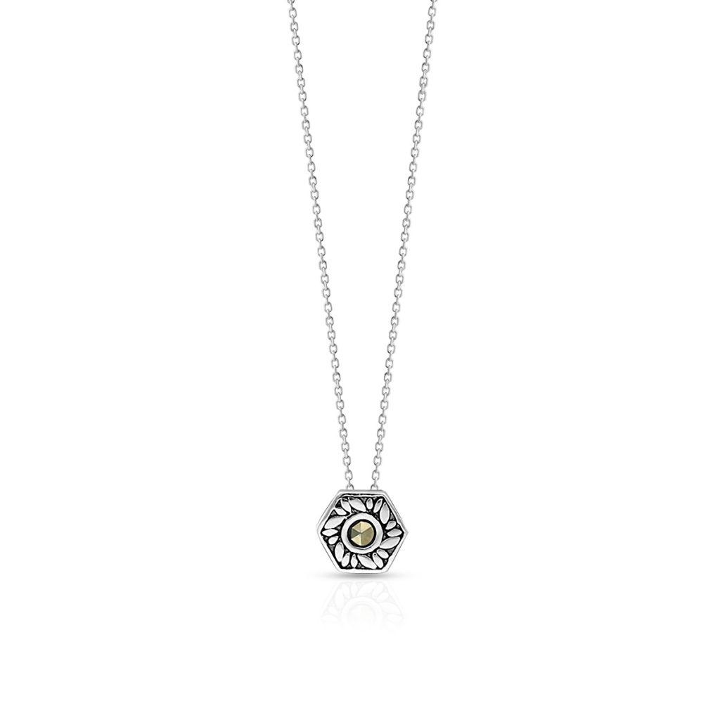 W.KRUK Zjawiskowy Srebrny Wisiorek – srebro 925, Markasyt – SVL/WS029