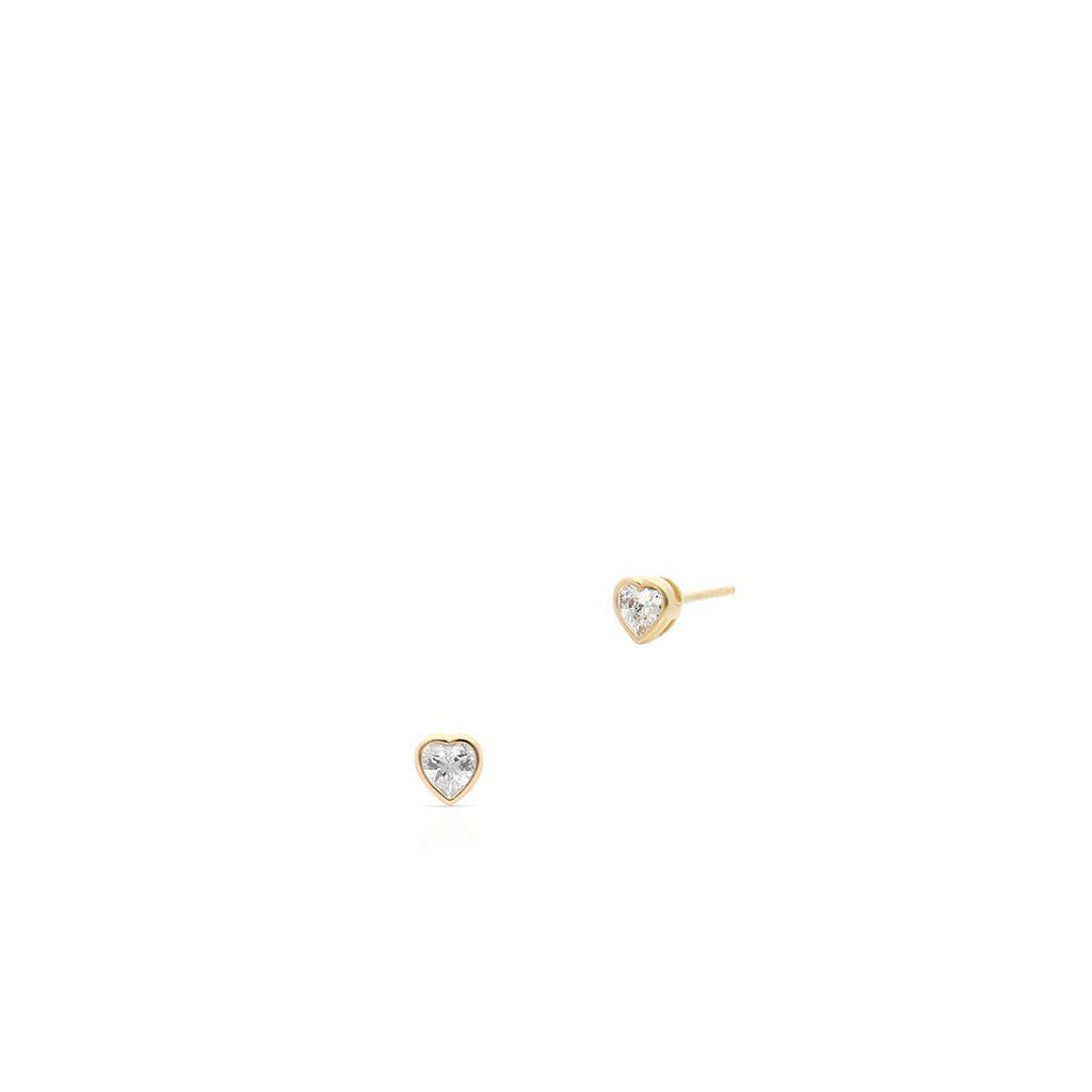 W.KRUK Unikalne Złote Kolczyki – złoto 375, Cyrkonia – ZIO/KC128