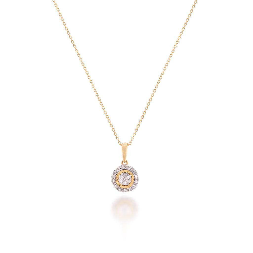 W.KRUK RABAT Złoty Wisiorek – złoto 585, Diament 0,06ct – ZFX/WB+08BK