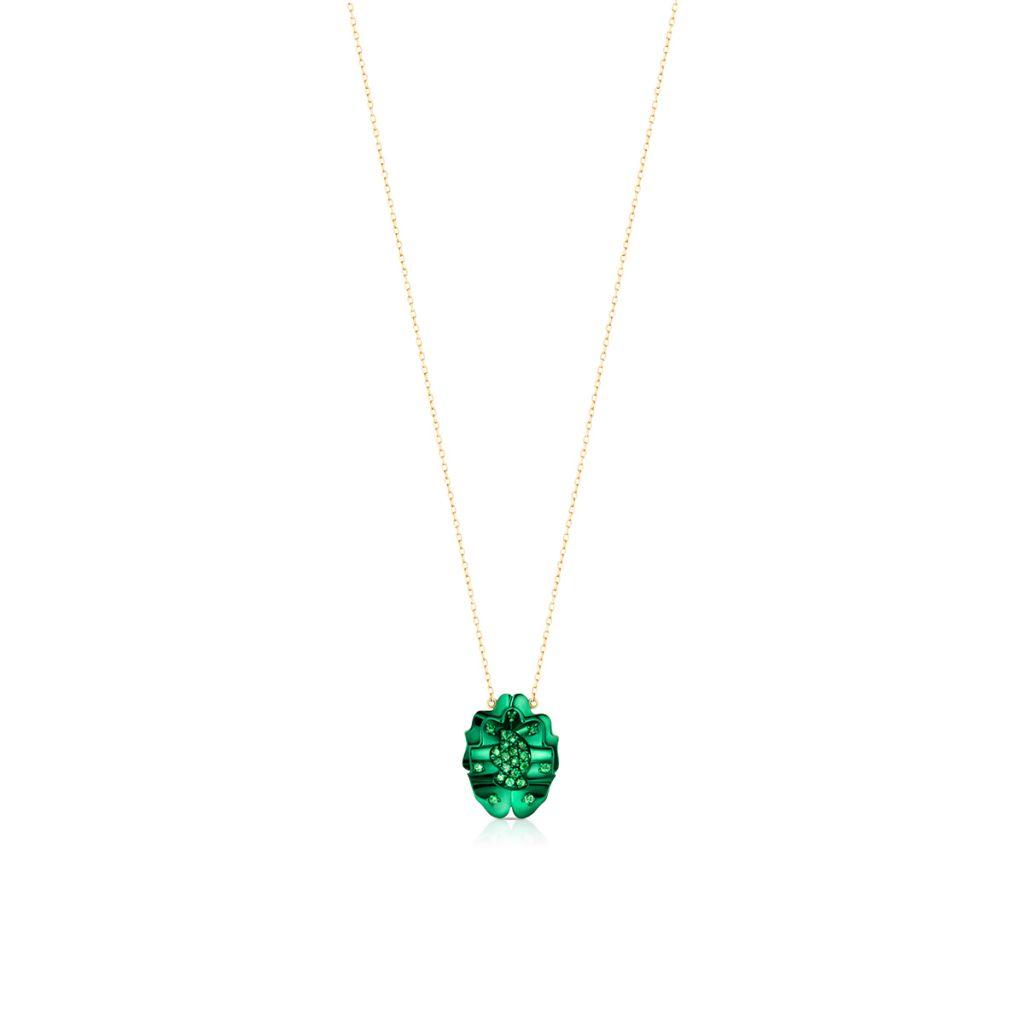 Unikalny Naszyjnik - złoto 375, Granat