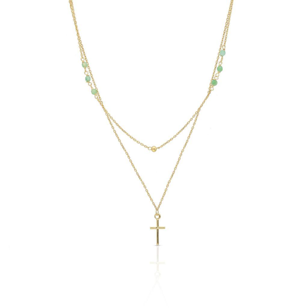 W.KRUK Piękny Naszyjnik – złoto 375, Jadeit – ZIT/NW01