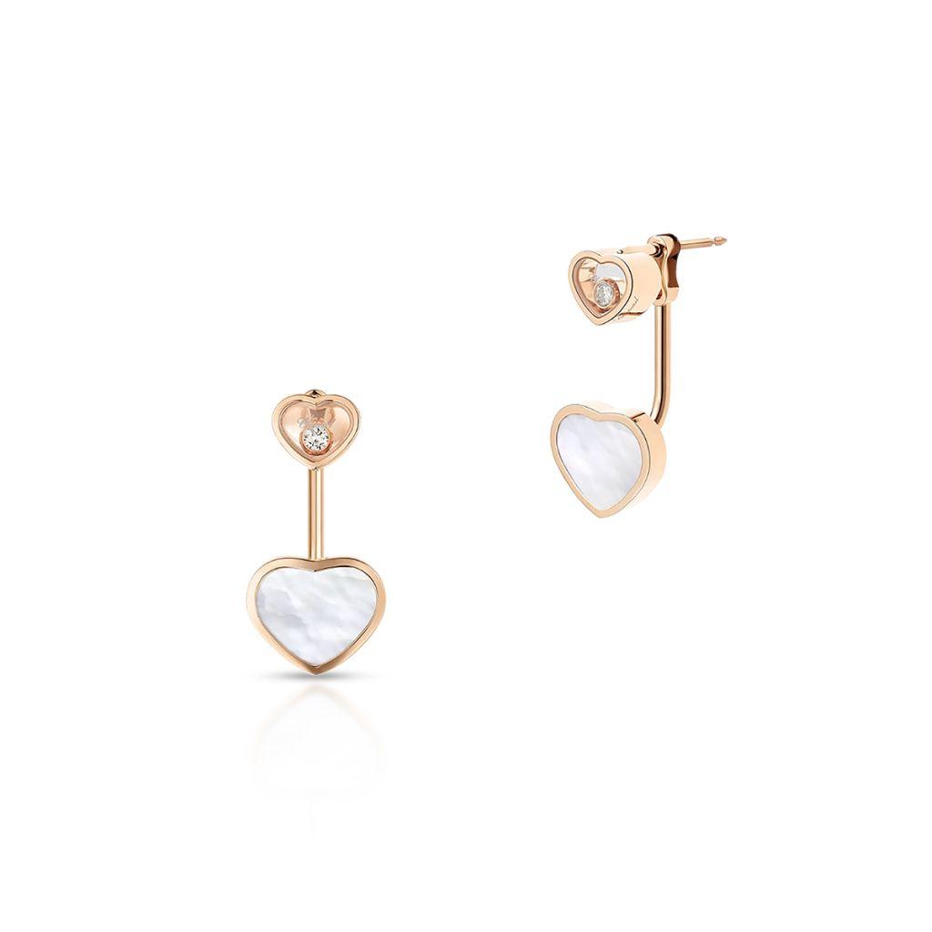 W.KRUK Kolczyki różowe złoto HAPPY HEARTS Chopard – ZPD/KB+15R0000
