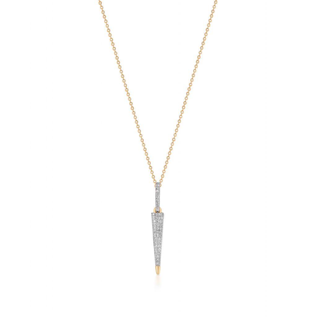 W.KRUK Wspaniały Złoty Wisiorek – złoto 375, Diament 0,06ct – ZSJ/WB+265K