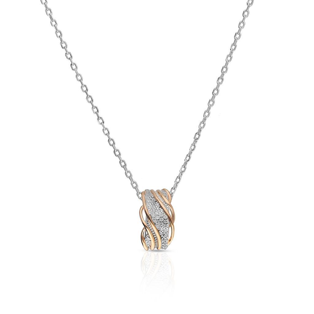 W.KRUK Unikalny Srebrny Wisiorek – srebro 925, Cyrkonia – SHX/WC303