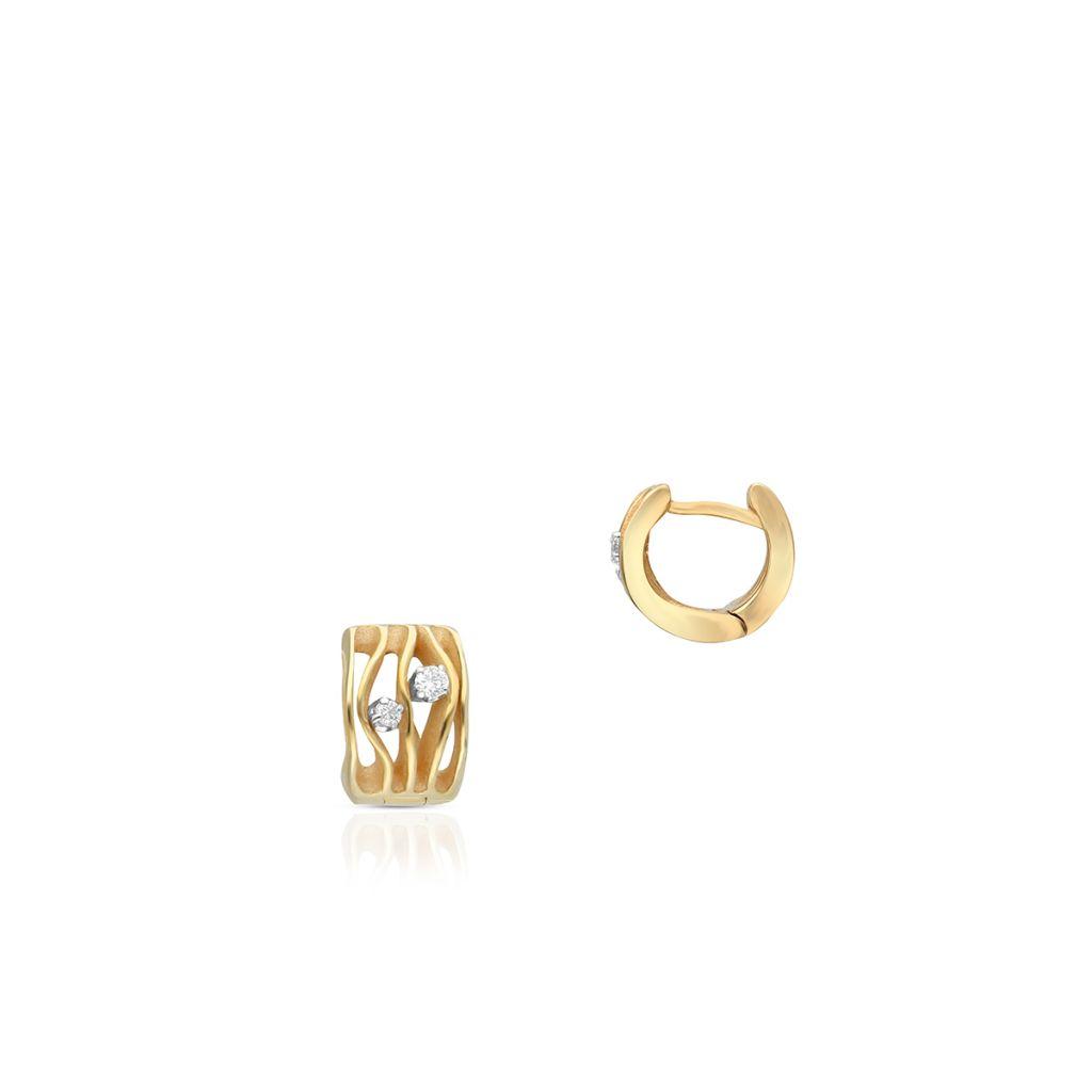 W.KRUK PROMOCJA Złote Kolczyki – złoto 750, Brylant 0,10ct – ZMM/KB+09