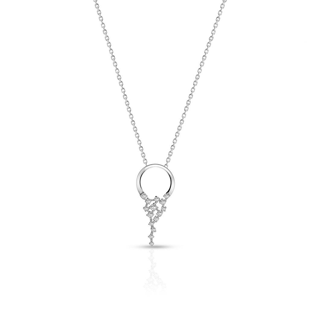 W.KRUK Piękny Wisiorek Srebrny – srebro 925, Cyrkonia – SDL/WC188