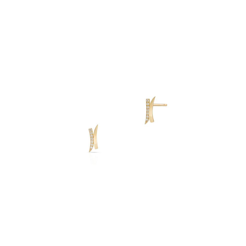 W.KRUK Unikalne Kolczyki Złote – złoto 375, Cyrkonia – ZIO/KC06