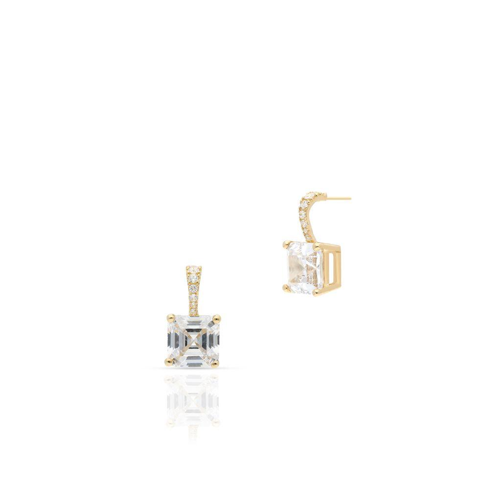 W.KRUK Wyjątkowe Złote Kolczyki – złoto 375, Cyrkonia – ZIO/KC129